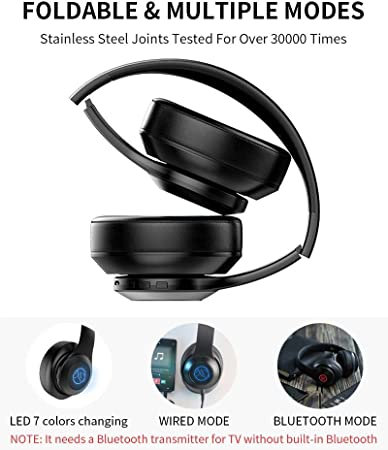 Auriculares Bluetooth Inalámbrico,Auriculares de Diadema ...