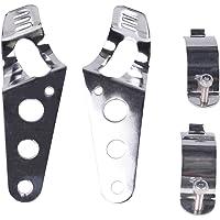 Frenshion Compatible para 35-43mm Motocicleta Faros de Montaje