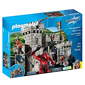 playmobil knights 5670 citadelle des chevaliers avec troll - Playmobile Chevalier