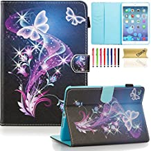 iPad mini 4 Case Cover, Dteck(TM) Ultra Slim PU Leather Stand Smart Cover with [Auto Sleep/Wake Feature] [Corner Protection] Protective Case for Apple iPad mini 4 (2015 Release), Purple Butterfly
