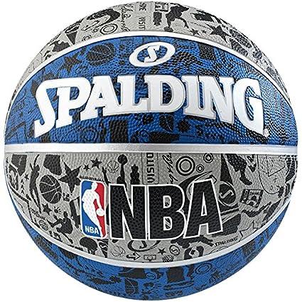 Spalding NBA Graffiti Outdoor Balón de Baloncesto, Unisex Adulto ...