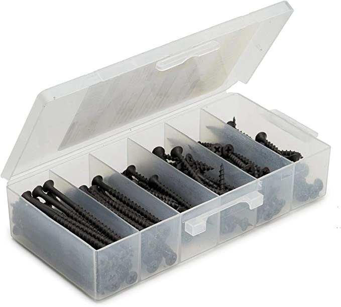 230 Pcs Assorted Nail Set Zinc Plated with Handy Storage Case Hardware DIY Craft