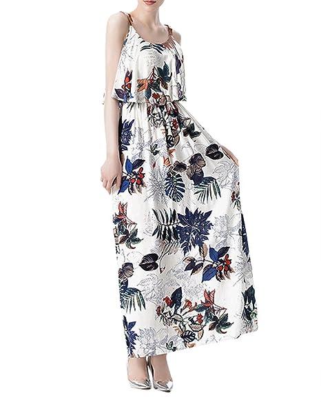 Vestido de Verano Largo Maxi Falda Mujer Casual Elegante Boda ...