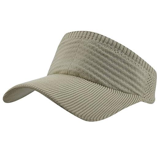 27a3ba5ac4f63 Womens Summer Quick-Dry Mesh Empty Top Golf Stretchy Sun Baseball Visor Hat  Cap Beige