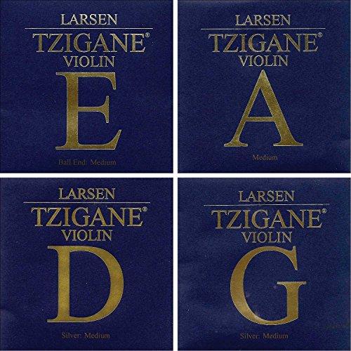 Larsen Tzigane 4/4 Violin String Set - Medium Gauge with Ball-end ()