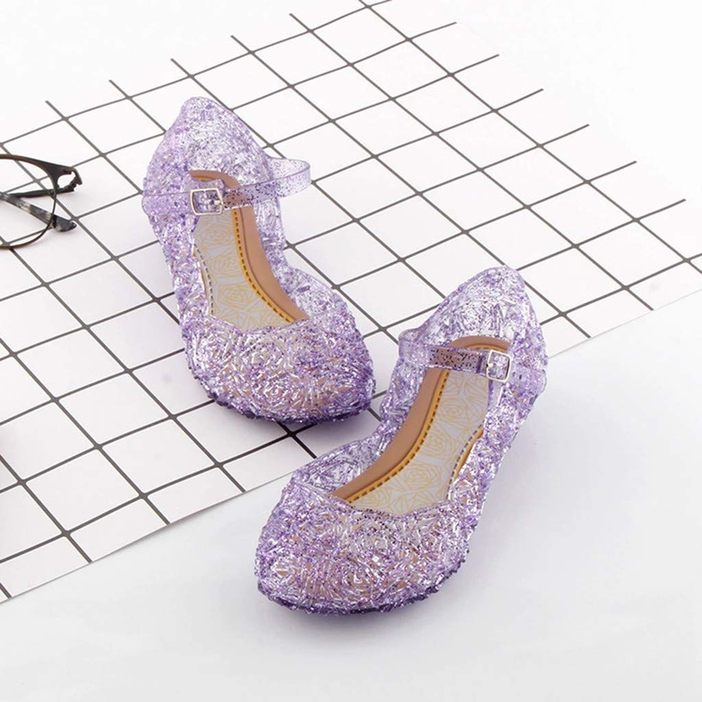 Toddler Infant Kids Baby Girls Wedge Cosplay Party Single Princess Shoes Sandals