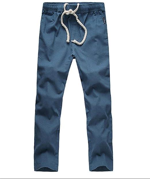 Lino Verano Cómodos Para Hombres Pantalones De Y Simple 7Ybf6gIyv