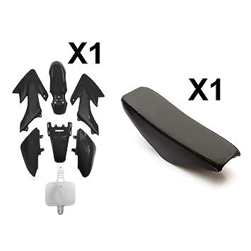 STICKERS CRF50 BLACK PLASTICS FUEL TANK RED SEAT PIT DIRT BIKE PITPRO