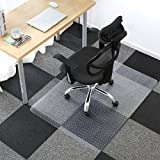 Alpha Home PVC Carpet Chair Mat for Home and Office | Non-Slip Studded Back | for Low and Medium Pile Carpets | Shipped Flat (30'' x 48'')