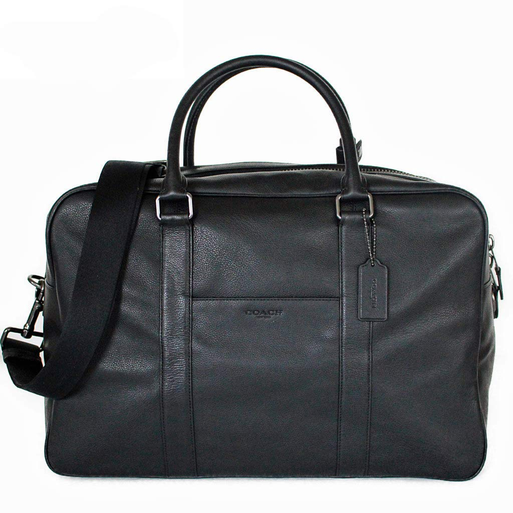 コーチ メンズ バッグ ボストンバッグ アウトレット レザー ビジネスバッグ 2WAY ブラック COACH OVERNIGHT BAG [並行輸入品] B07LGWGDGD