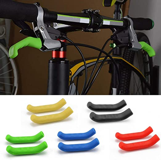 Gel di silicone universale tipo freno manubrio bar impugnatura leva protezione della protezione caso di protezione shell per mountain bici da strada nero