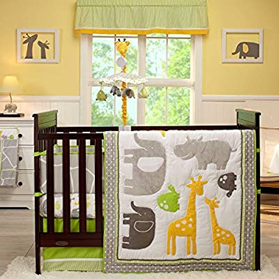 Animal Collection 5 Piece Crib Bedding Set with Bumper by Carter's