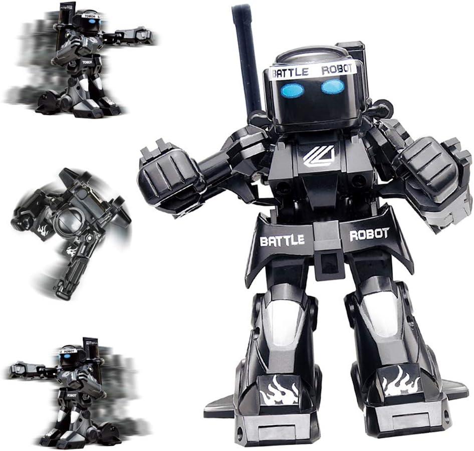 RC Batalla Boxeo Robot/Juguetes, a Distancia del Robot humanoide Fighting Control 2.4G, Dos joysticks de Control Real Boxeo Lucha Experiencia (Blanco y Negro): Amazon.es: Hogar