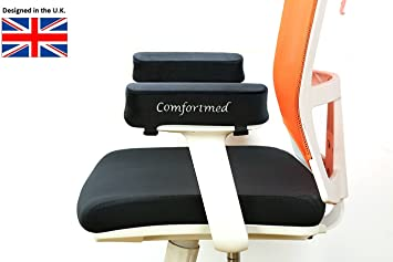 comfortmed uk chair arm pad thick 25x10x5cm memory foam