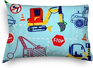 product image for SheetWorld Twin Pillow Case, 100% Cotton Woven 20 x 26, Construction Zone, Made in USA