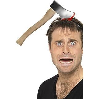 Ascia che si conficca in testa accessorio Halloween scherzo - 33 cm NET TOYS