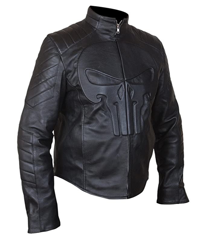 Amazon.com: Flesh & Hide F&H Mens Punisher Skull Biker ...