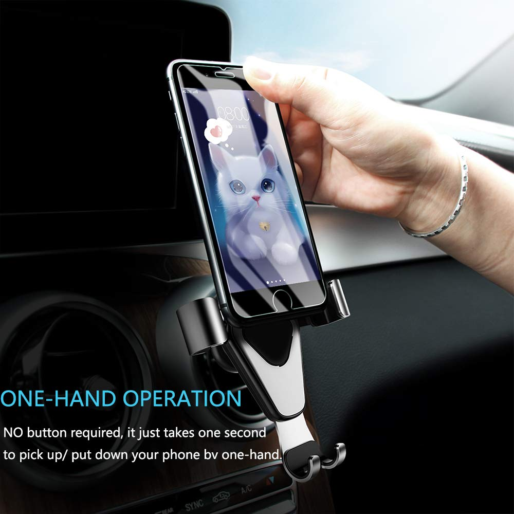 Galaxy S8 S9 LG G6 V20 V30 MCEPOW 4351518781 Car Phone Mount Stand Holder,Air Vent Car Mount Cradle With Auto Lock and Auto Release Car Holder,Hands free Gravity Holder Compatible with iPhone Xs Max XR X 8 7 6