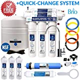 water filter 4 bottle - Five Stage Reverse Osmosis Filtration Systems for Water Dispensers, Water Coolers, and More (50 GPD (Gallons per Day), EZ Change by Brio and Magic Mountain Water Products
