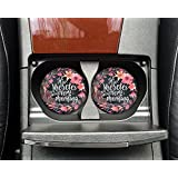 Christian quote - His mercies are new every morning - Car coasters - Sandstone auto cup holder coasters - Gifts for women