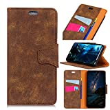 Scheam Xiaomi Mi Mix 2S Case, Xiaomi Mi Mix 2S Wallet Case,Appears, Premium Slim Leather Wallet Back Case with Credit Card ID Holder Protective Case Compatible with Xiaomi Mi Mix 2S,Brown