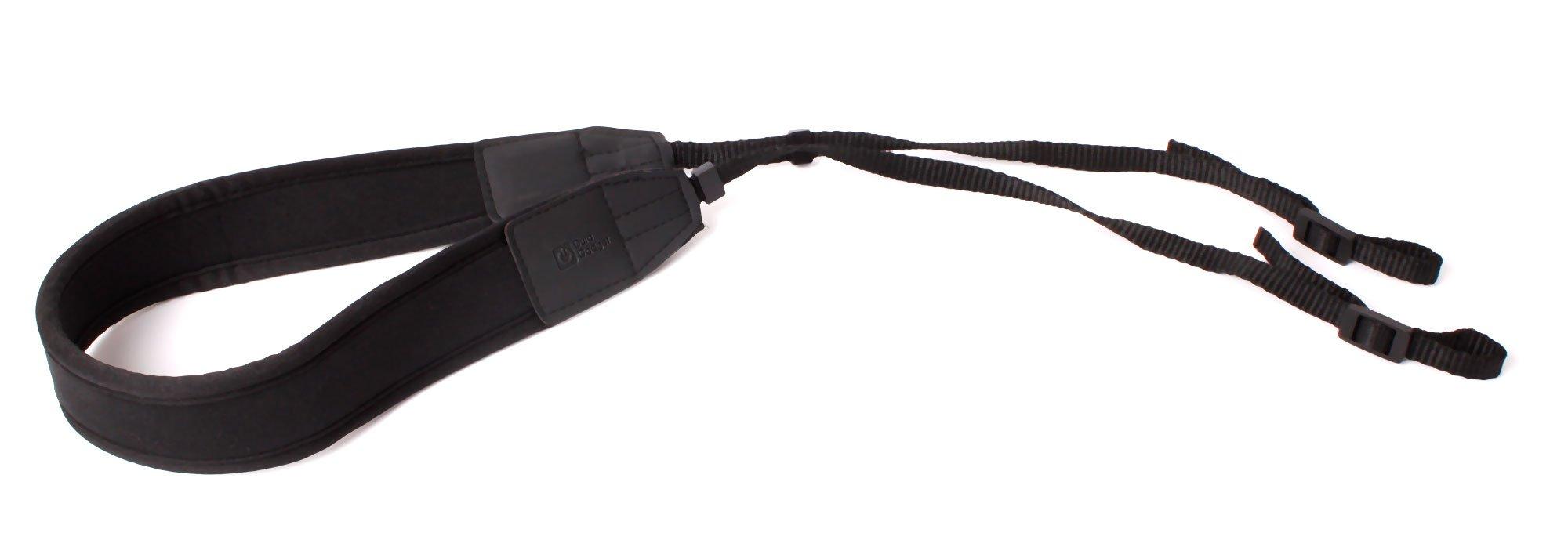 DURAGADGET Adjustable Neck Strap For Sony Digital SLR Cameras - Black