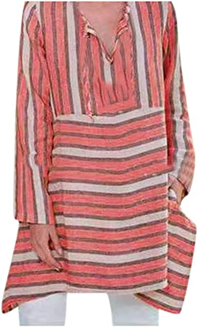 latest fashion los angeles first rate 🍒 Spring Color 🍒 Women's Casual Striped Tops V Neck Long Sleeve ...