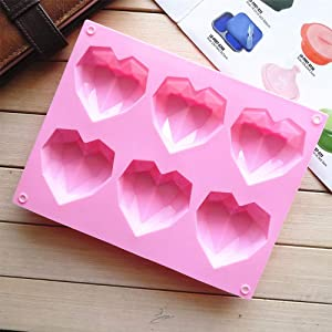 Heart Shaped Jelly Mold, Non Stick Food Grade Silicone Mold for Candy Chocolate Jelly, Ice Cube