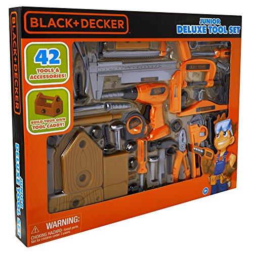 Black + Decker Junior Deluxe Tool Set with Toolbox - 42 Tools & Accessories JungleDealsBlog.com