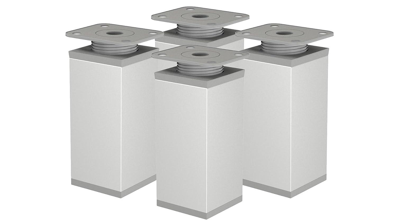 EMT-Design/® Design!pied de meuble moderne en aluminium Hauteur r/églable 20/mm Profil: 40 x 40 mm. Hauteur 60/mm