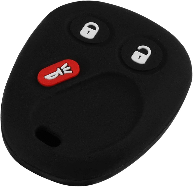 Protective Cover 15008008 Key Fob Keyless Remote fits 2002-2009 Buick Chevy GMC Isuzu Oldsmobile Saab Vehicles