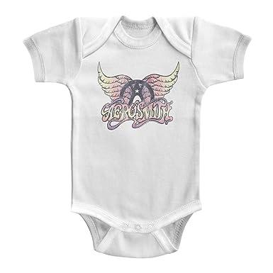 48e763132 Amazon.com  Aerosmith Unisex-Baby Faded Pinks Onesie  Clothing
