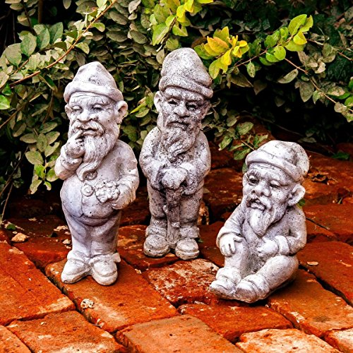 Sitting, Traveler, and Thinker Gnomes in Set of 3 -