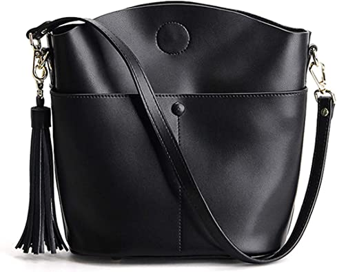 Heshe Womens Leather Cube Small Shoulder Handbags Ladies Designer Purse Cross Body Bag