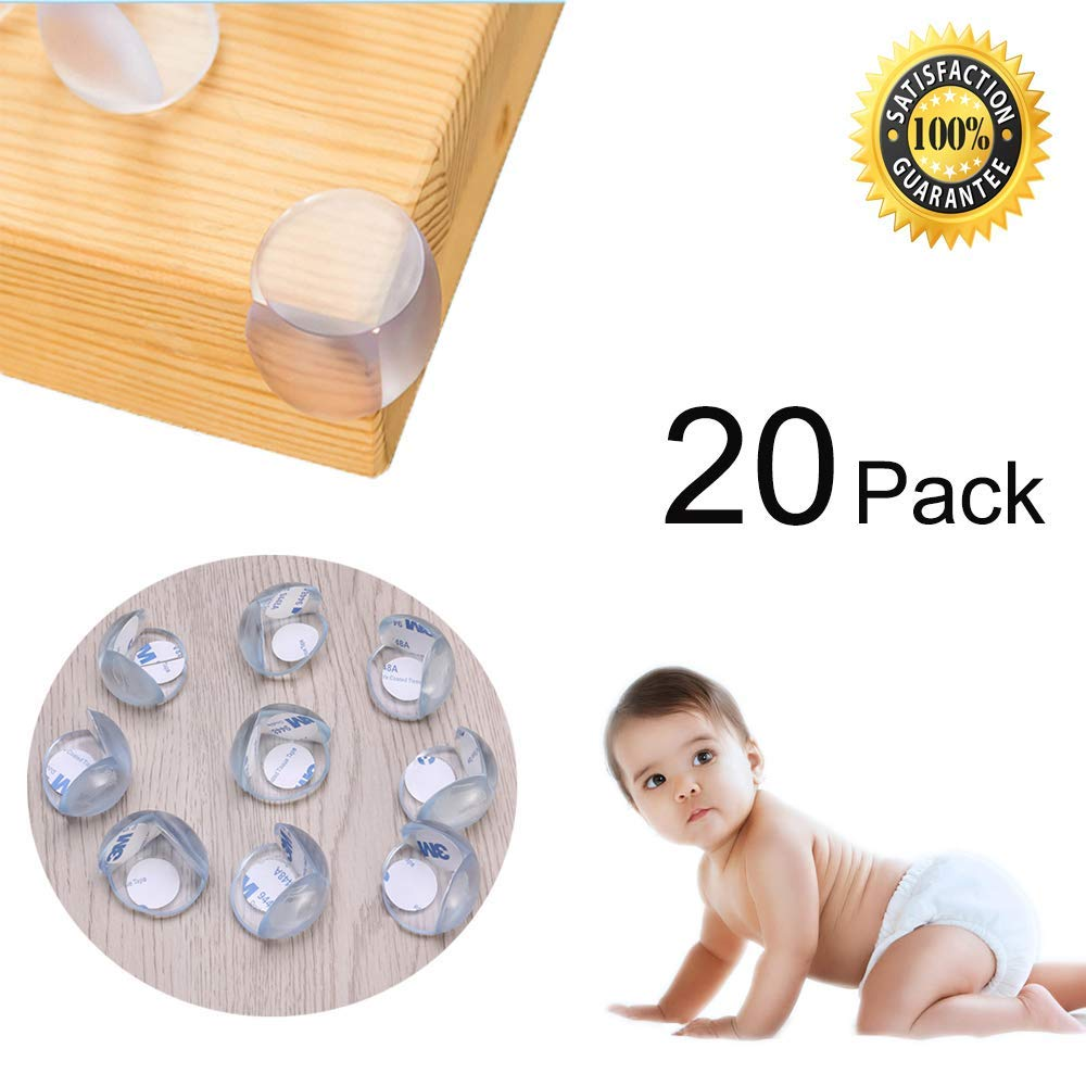 8-Pack Prevents Child Injury Damage Free | by Natemia| Maximum Baby Safety Edge Bumper Extra Cushion Corner Guards for Furniture Brown 100/% Guarantee Easy to Use