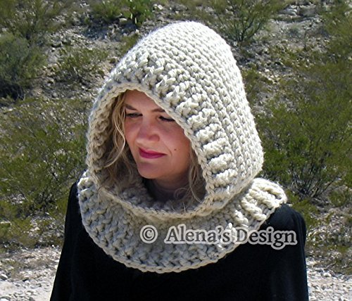 Hooded Cowl with Flower - Crochet Hooded Cowl - Toddler Children Girls Cowl - Women Cowl - Ladies Winter Neck Warmer - Adult Crocheted Hood – Handmade Cowl Made in USA