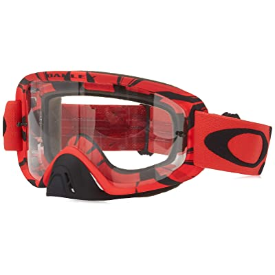 Oakley O2 MX Men's Goggles (Intimidator Blood Red Frame/Clear Lens): Automotive
