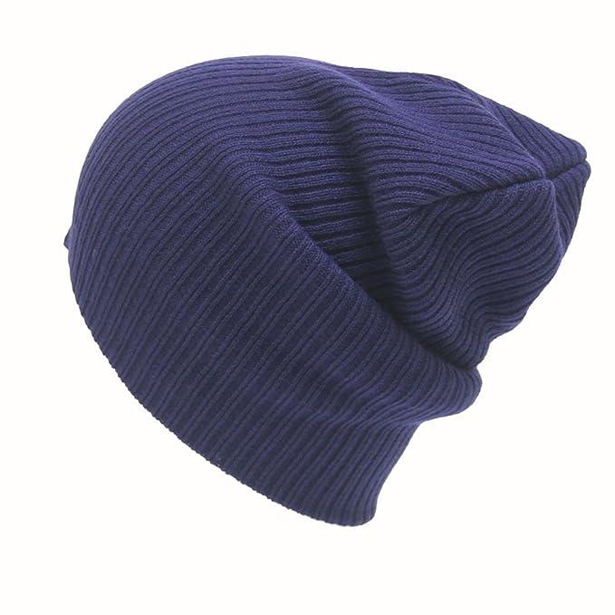 Gorros Invierno Hombre Mujer de Punto, Sombrero Básico y Simple ...