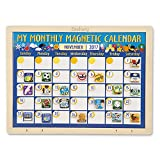 Melissa & Doug Personalized Deluxe Wooden Magnetic Calendar with 134 Magnets Toy