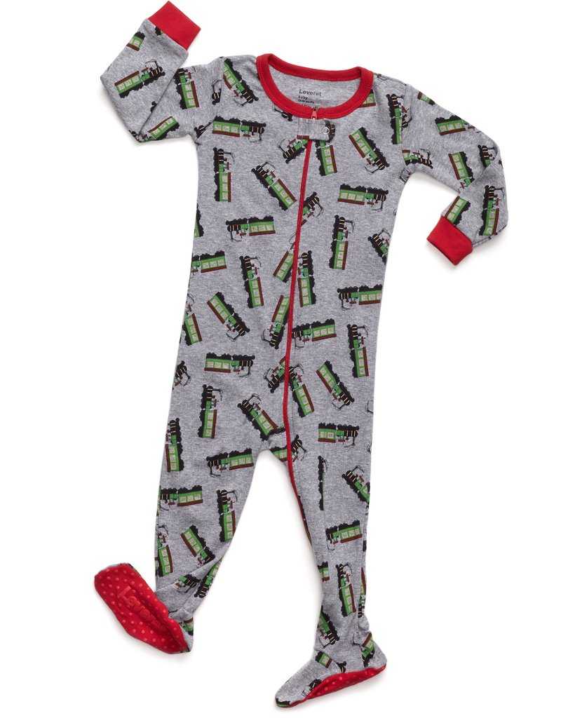 Leveret Train Footed Pajama 2 Years