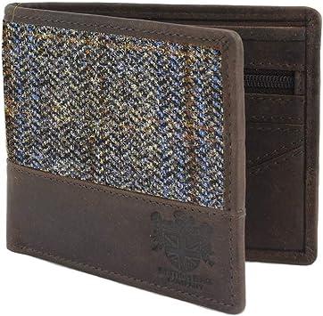 mans wallet tartan wallet Harris tweed wallet man gift blue wallet