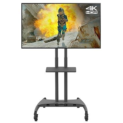 Forest Soporte Universal para TV Plasma/LCD Sobre Ruedas, Carro Soporte de Suelo w