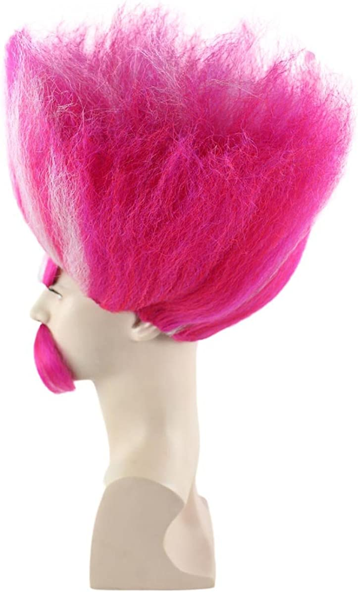 Red HM-110 King Troll Wig