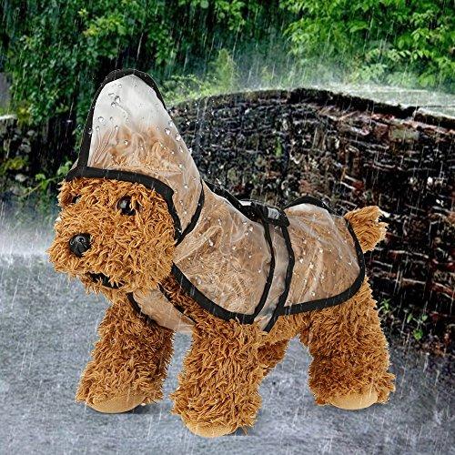 Cane Cat Rain Piccola black Poncho xs Coat All'aperto Con Giacca Leggeri Cappuccio Media Taglia Impermeabile Black Dog Abiti Trasparente gSwfgdq