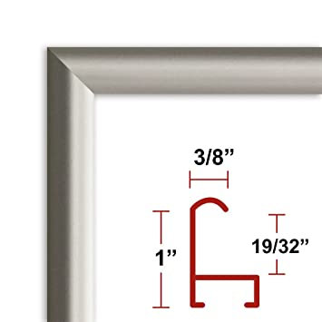 25 x 25 satin silver poster frame profile 15 custom size picture frame