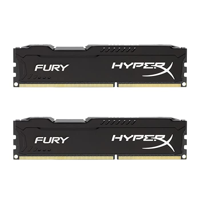 Kingston HyperX FURY 8GB Kit (2x4GB) 1600MHz DDR3 CL10 DIMM - Black (HX316C10FBK2/8)