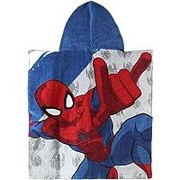 Artesanía Cerdá 2200002190 Poncho Toalla Playa de algodón 50 x 115 cm, diseño Spiderman