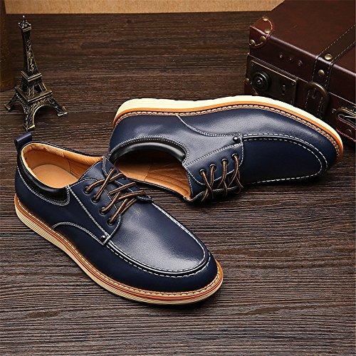 pelle shoes 2018 in da Scarpe Colore lavoro 41 Blue stringate da dimensione basse Nero Xujw uomo Scarpe PU EU pPgdxPq
