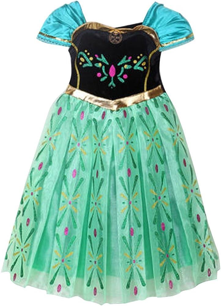 Handschuhe Zauberstab,Zopf,Halskette Canberries/® Prinzessin Kost/üm Kinder Glanz Kleid M/ädchen Weihnachten Verkleidung Karneval Party Halloween Fest Set aus Diadem