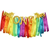 Unicorn One Banner Highchair Skirt Unicorn Theme 1st Birthday Party Decorations